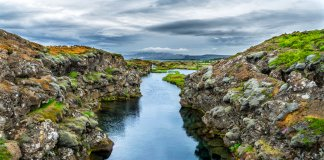 Diving the Silfra fissure in Iceland