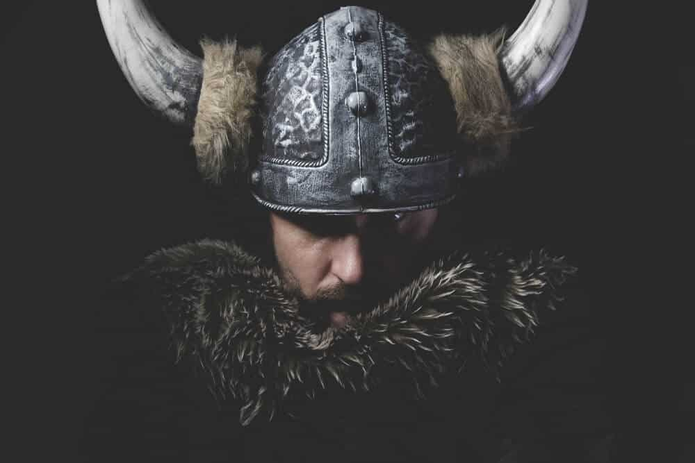 Icelandic Viking with Horned Helment