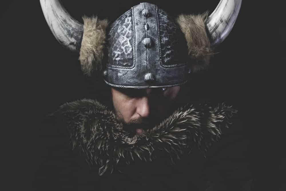 Icelandic Viking with Horned Helment