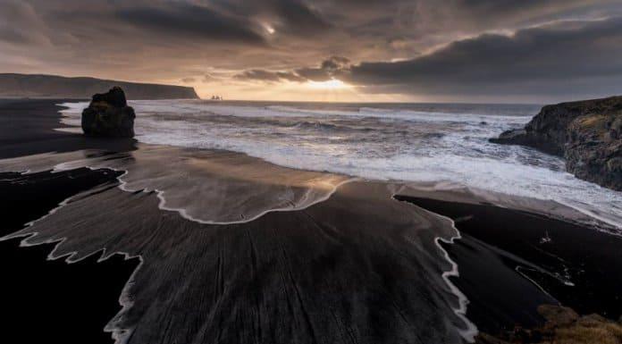 Reynisfjara is a well known black sand beach in Vik