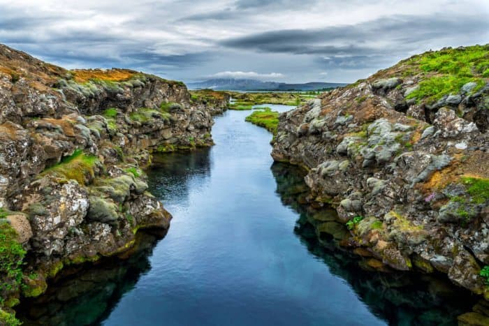The Silfra Fissure in Thingvellir National Park where Game of Thrones is filmed