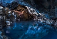 Grjotagja cave is a famous Game of Thrones filming location in Iceland