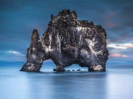 North Iceland's Hvitserkur troll rock formation