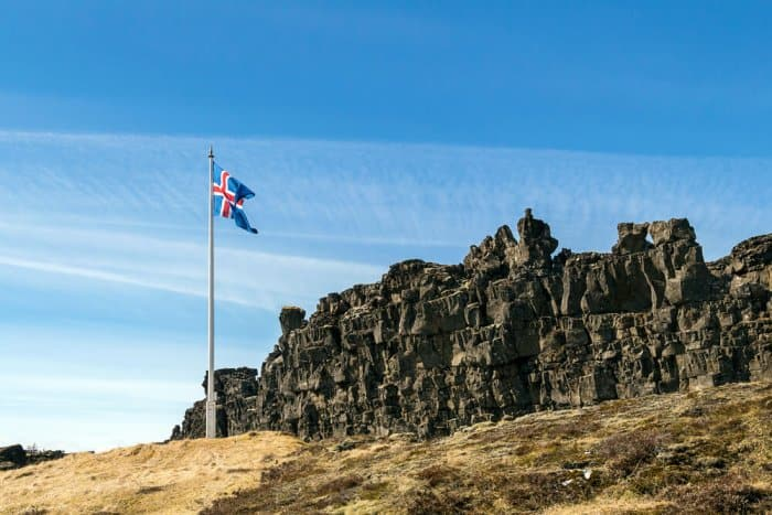 Thingvellir, the first parliament in the world, iceland