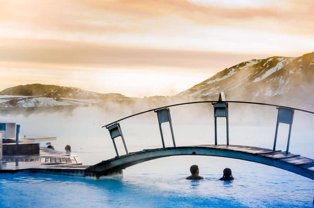 Couple at Iceland's Blue Lagoon Spa