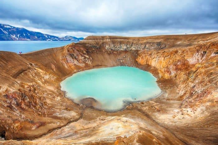 Askja volcano and Viti crater