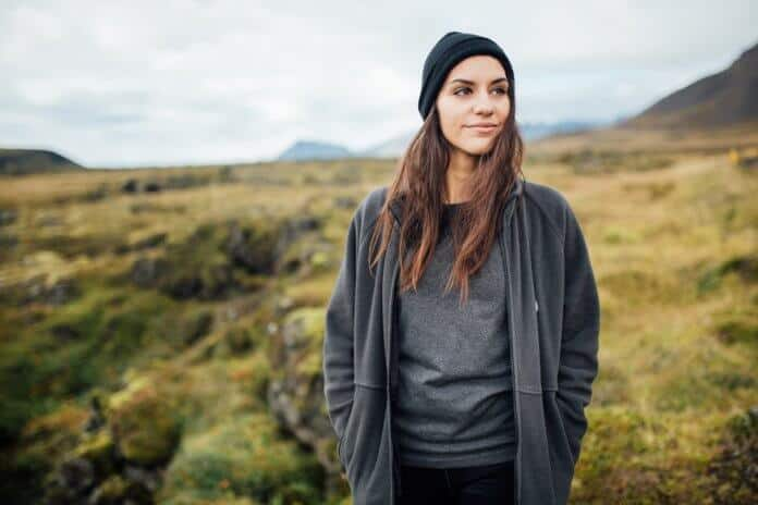 "Icelandic woman with philosophy ""thetta reddast"""