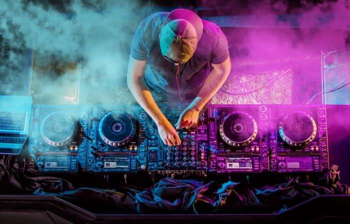 DJ spinning at one of Reykjavik's best bars