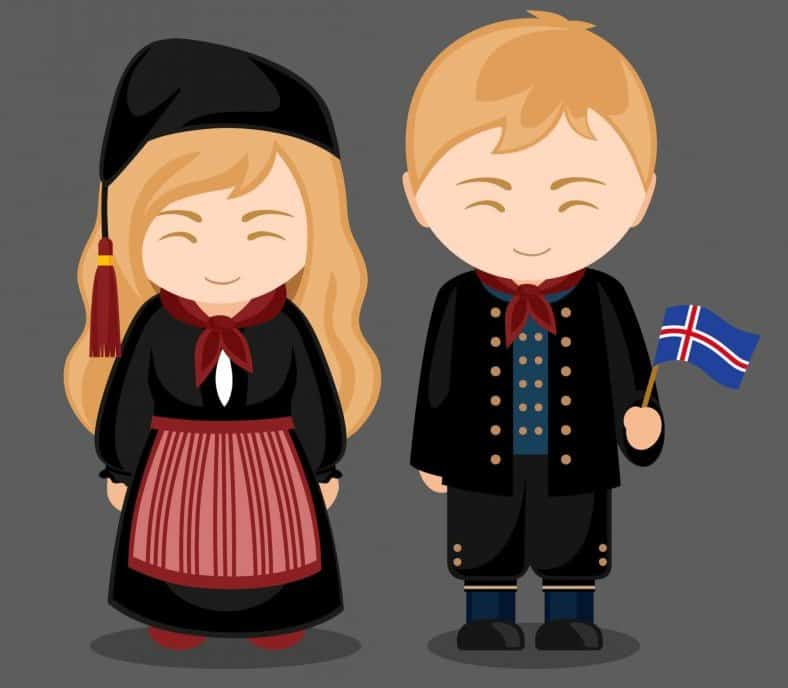The traditional costume is part of the Icelandic culture