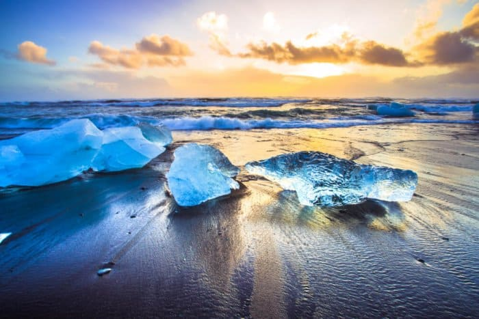 "See black sand and ""diamonds"" at Iceland's Diamond Beach"
