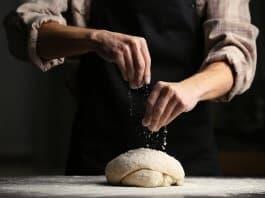 Baker preparing bread in one of Reykjavik's best bakeries