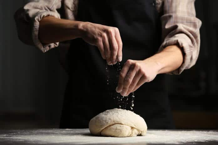 Baker preparing bread in one of Reykjavik's best bakeries