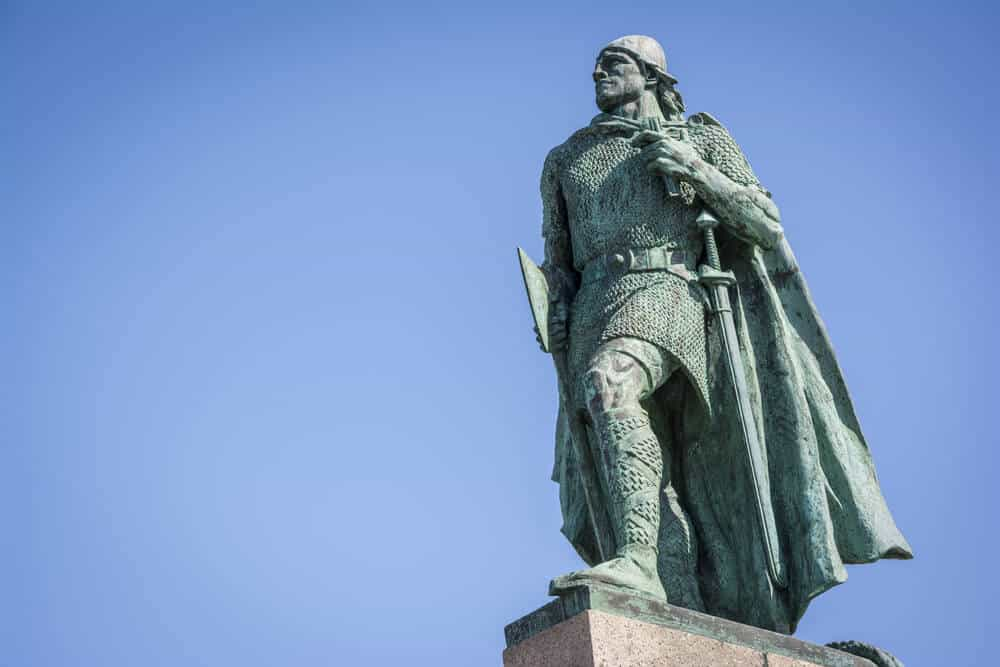 statue of a viking, Iceland culture derives from the nordic tribes