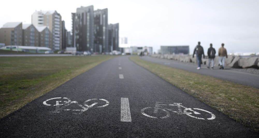 Bike lane for Private Bike Tours in Reykjavik and anyone who wants to bike