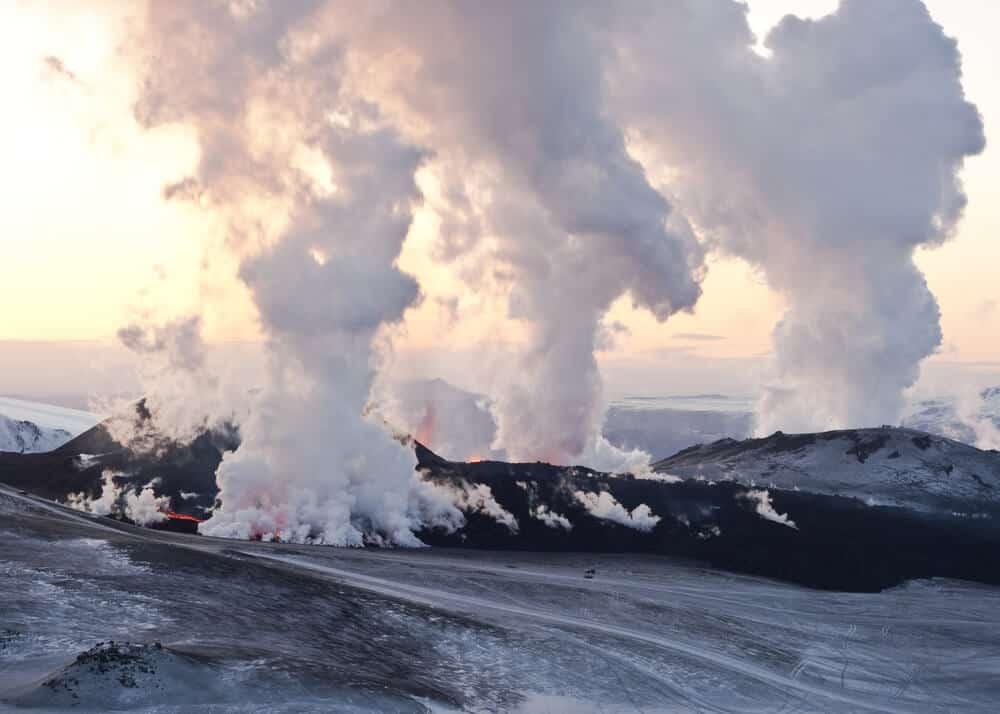 Eyjafjallajökull and Katla are two Icelandic volcanoes