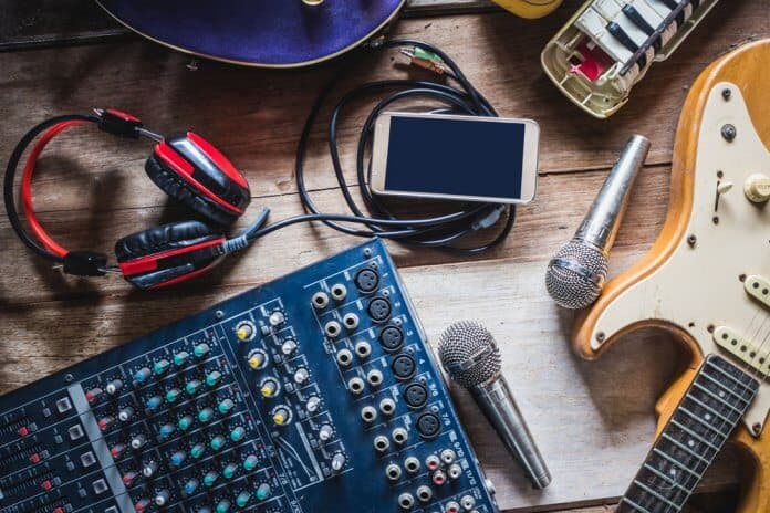 Music studio equipment for recording Of Monsters and Men new album