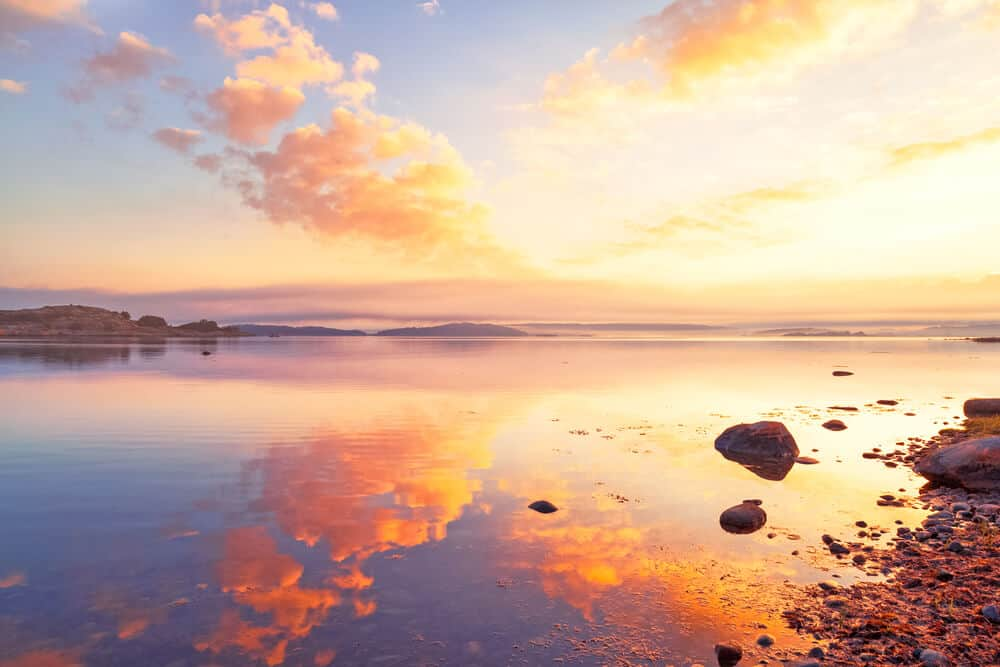 Sunset in Sweden