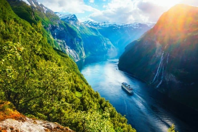 Fjords like this one in Norway are a popular feature of Scandinavian countries