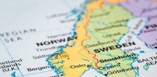 Map of Scandinavia with Norway, Sweden and Denmark. Is Iceland Scandinavian?