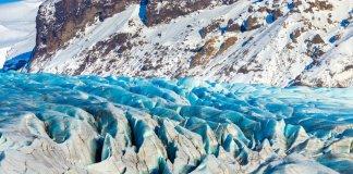 The glacier at Iceland's Vatnajökull National Park