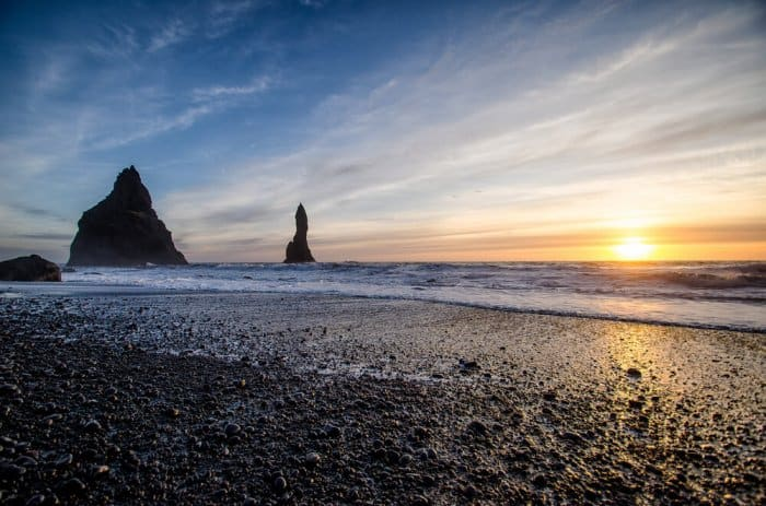 The black sand beaches at Reynisfjara are one of the wonders of South Iceland.