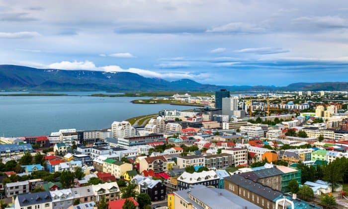 The view from Reykjavik's Hallgrímskirkja