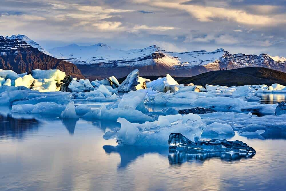 The Jökulsárlón glacier lagoon on the Ring Road in South Iceland