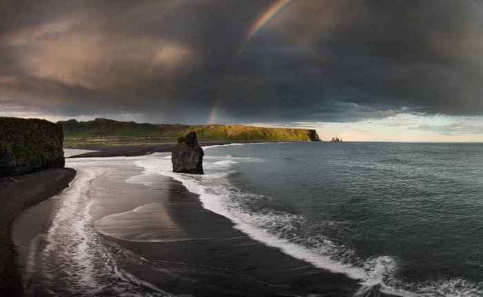 Vik's black sand beach