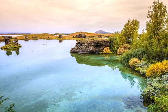 Lake Mývatn and Jarðböðin Nature Baths are popular in this zone