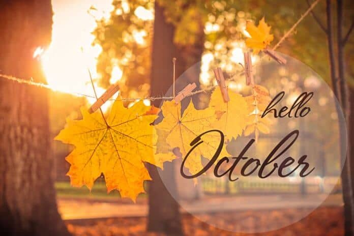 Hello October graphic for weather in Iceland