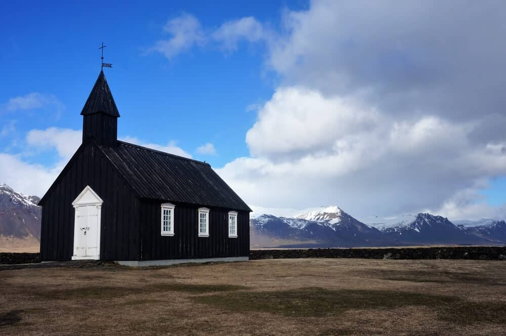 Black Budir church in Snaefellsnes peninsula