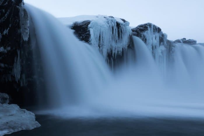 Cold temperatures mean freezing weather in Iceland in December