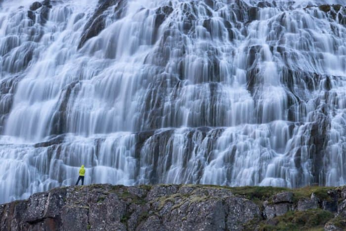 Dynjandi is a collection of seven waterfalls in Iceland's Westfjords region