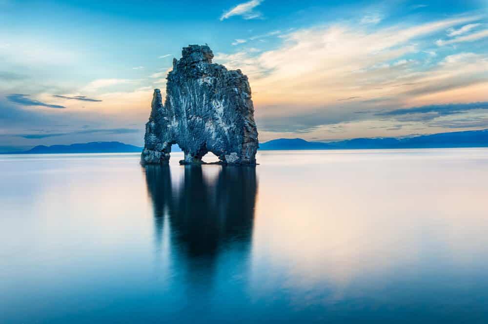Hvítserkur troll rock in North Iceland