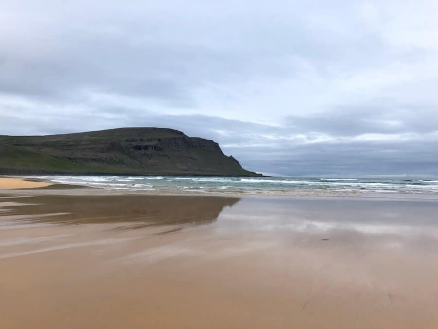 Pink sand beaches at Rauðasandur are a feature of Iceland's Westfjords