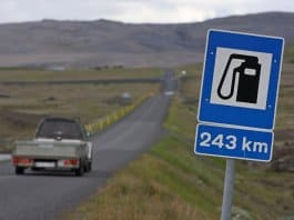 How much does gas cost in Iceland?
