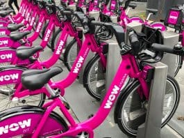 WOW citybikes has signature purple bikes to rent all around Reykjavik