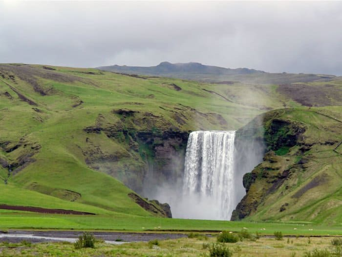 Skógafoss is one of Iceland's most beautiful waterfalls