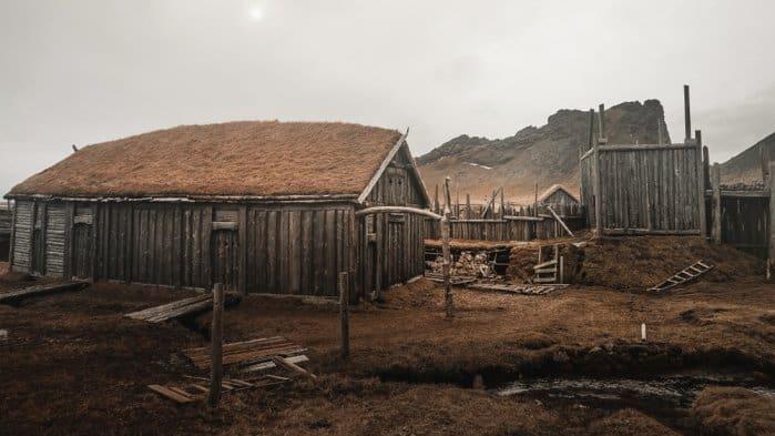 Stokksnes is home to the Viking village near Vestrahorn mountain