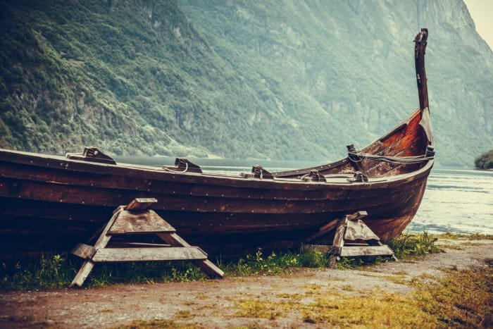 The Vikings came to Iceland from Denmark, Norway, and Sweden on Drakkar longboats