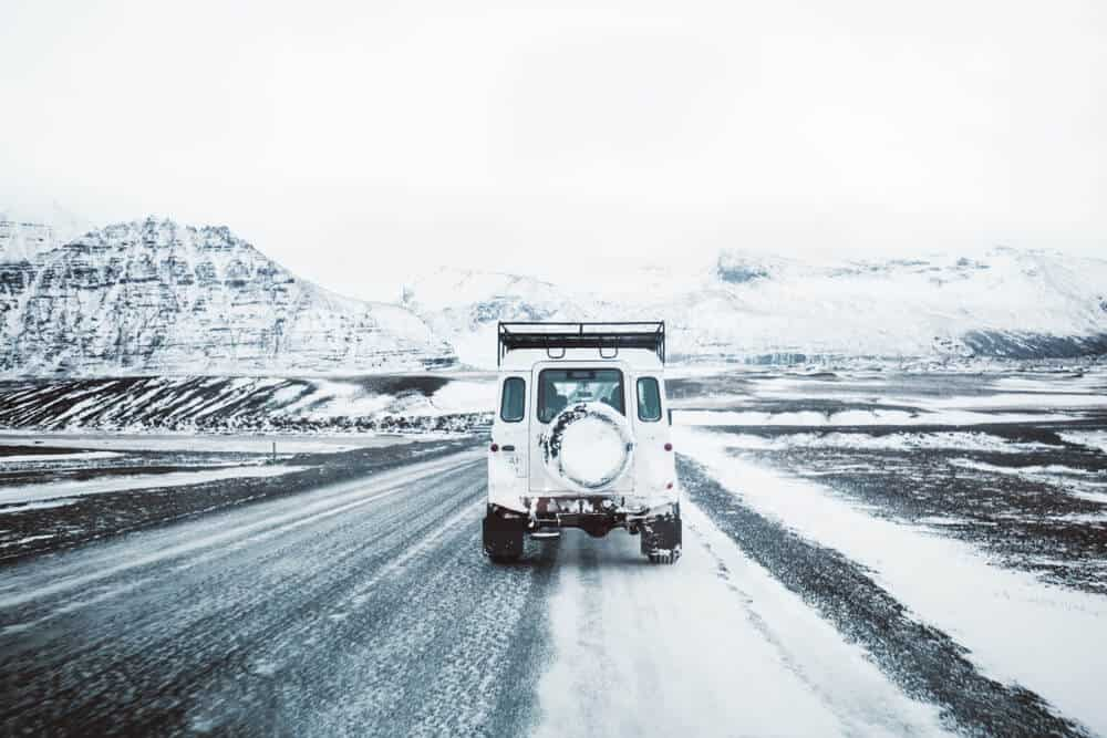 Weather in January can require more cautious while driving in Iceland