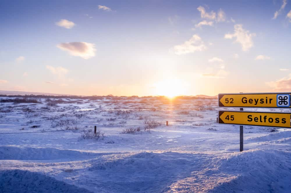 Dress warmly for the ice and snow during winter in Iceland