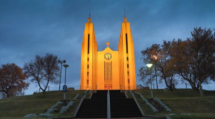 Akureyri church is a must see