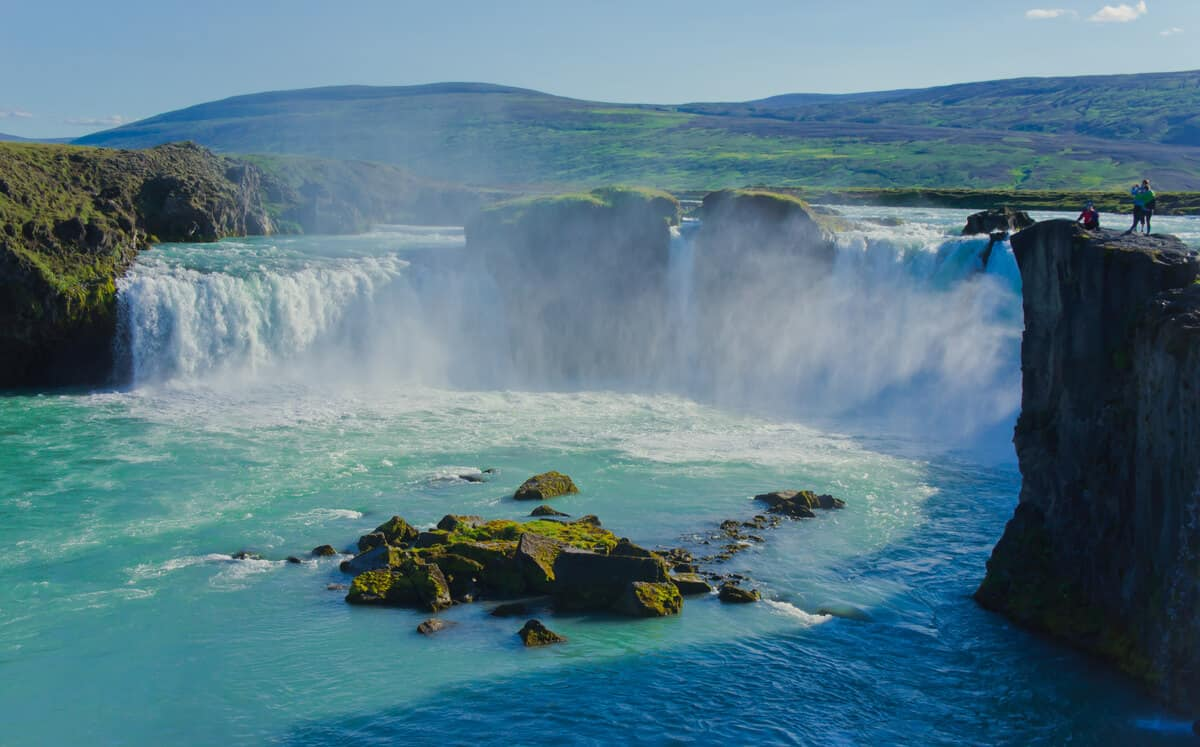 Does summer have the best months for visiting waterfalls like this in Iceland?