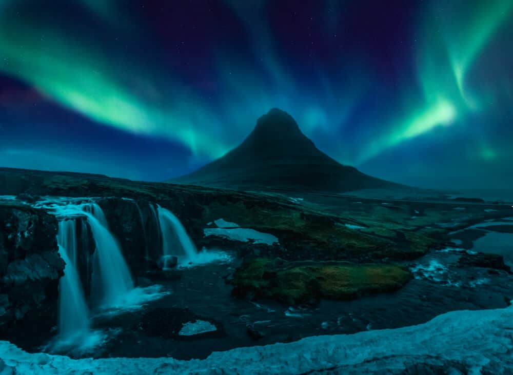 The Northern Lights are visible in Iceland most of the year