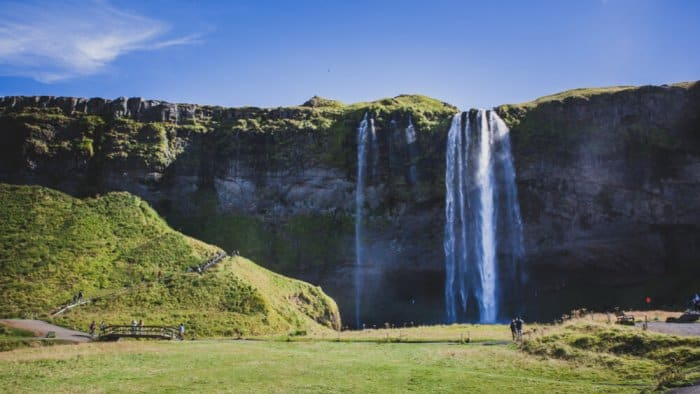 Seljalandsfoss was once a sea cliff