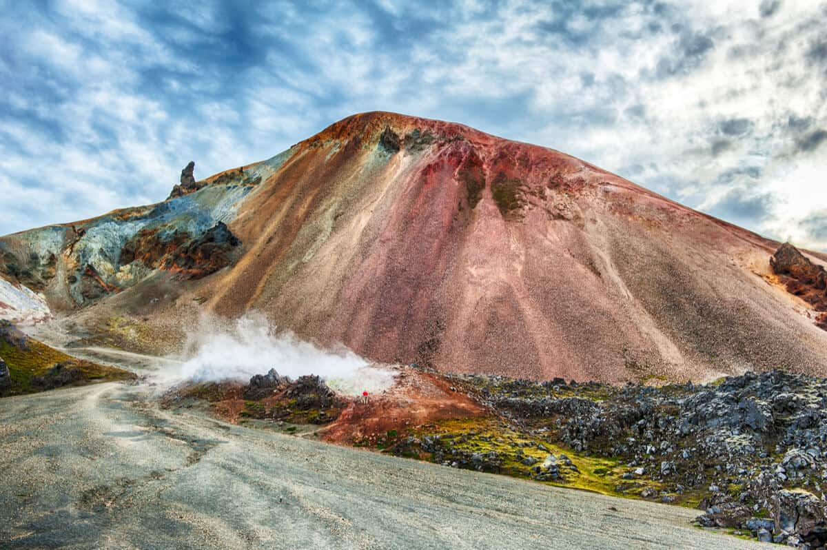 Brennisteinsalda colorful volcano in Landmannalaugar hiking area