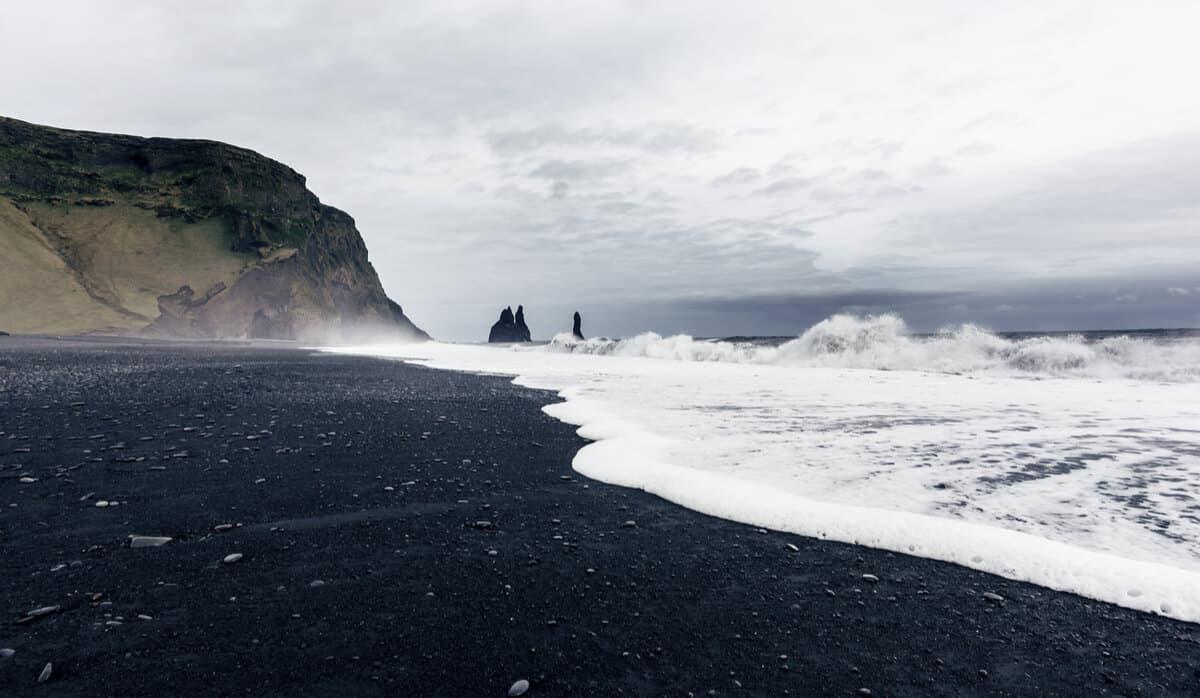 Iceland's black sand beach Reynisfjara