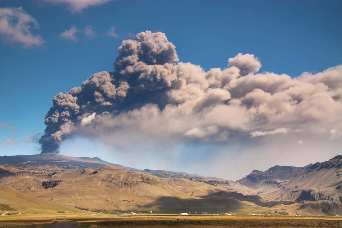 2010's eruption of Iceland's Eyjafjallajökull shut down airspace for a week
