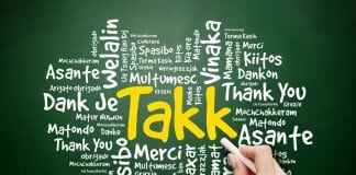 Takk means thank you in Icelandic